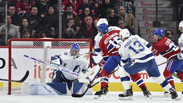 Василевский совершил «сейв скорпиона» в матче НХЛ