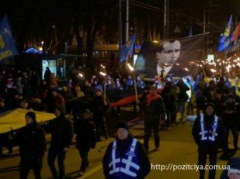 Несколько тысяч националистов устроили факельное шествие в Киеве