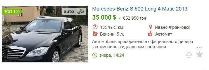 Цены на авто с сайта автопродаж