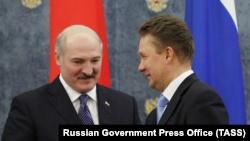 Александр Лукашенко и Алексей Миллер, 25 ноября 2011 года