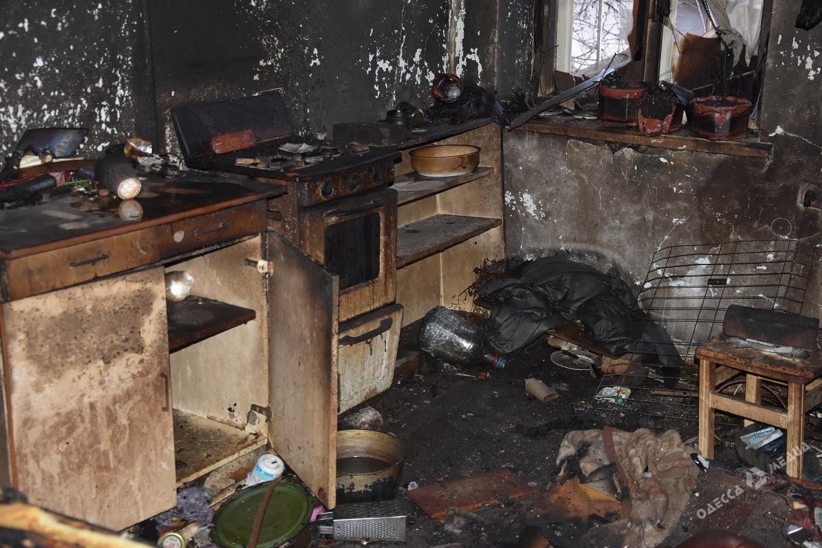 В пожаре в Одессе погибла женщина