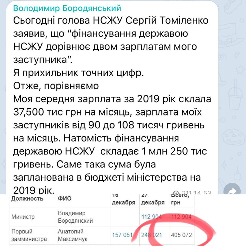скриншот записи Бородянского