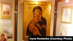 Копія ікони Вишгородської Богородиці у Вишгородському краєзнавчому музеї