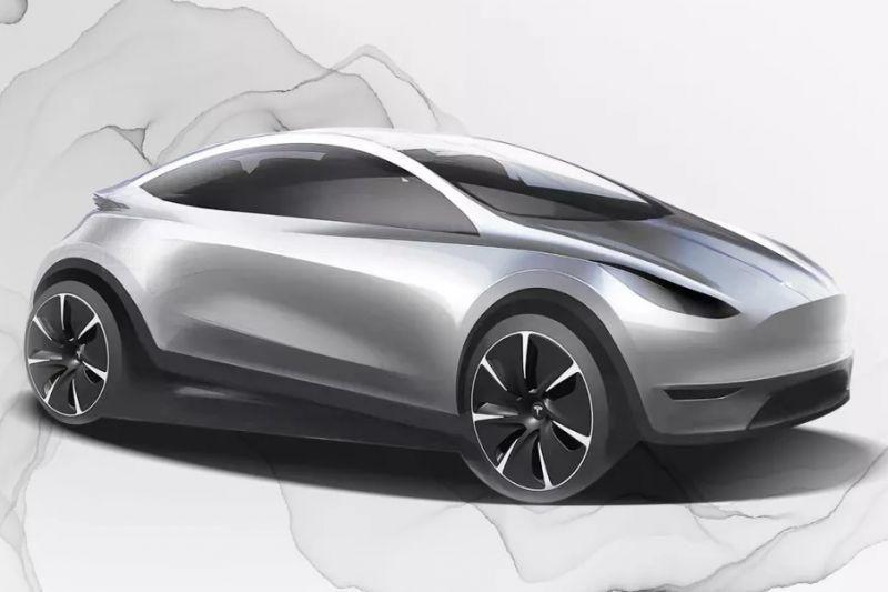 Tesla опублікувала ескіз компактного електрокара