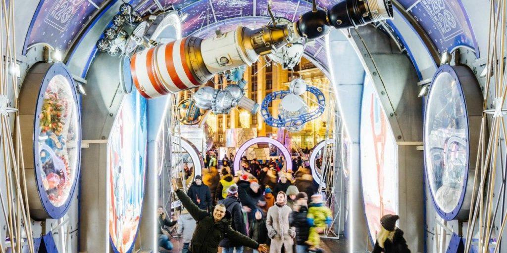 В новогодних гуляньях в Москве приняло участие 2,7 миллиона человек. Фото: mos.ru