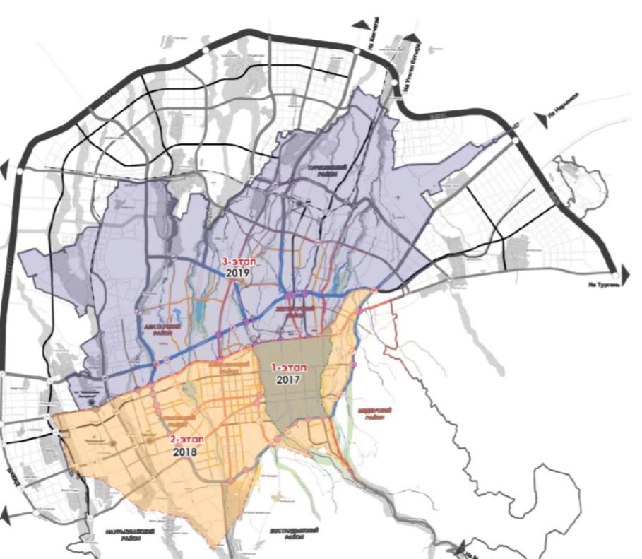 Улично-дорожная сеть Алматы