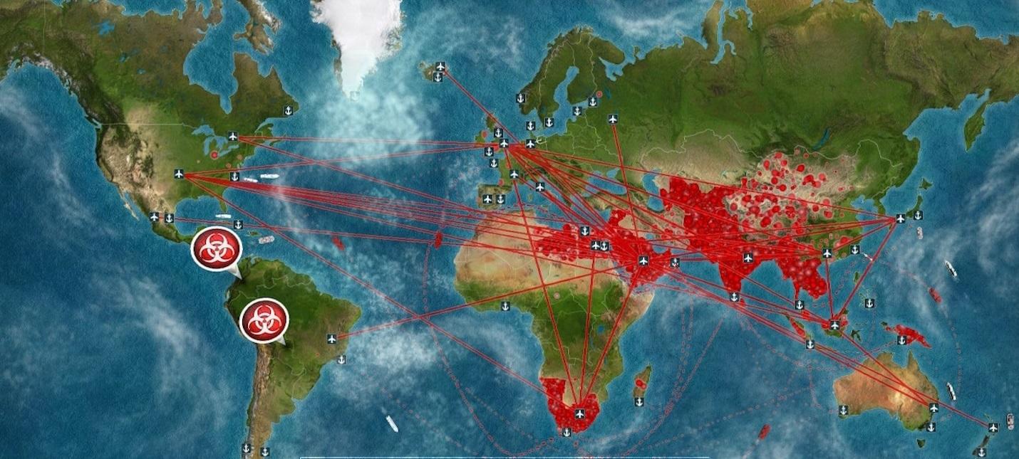 Карта з комп'ютерної гри Plague Inc.