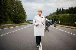 Фото: — Колишня президентка Литви Даля Грібаускайте приєдналася до акції